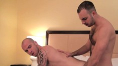 Cam Christou and Nicko Wilder having sex in the shower and on the bed