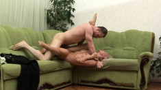 Cum-drinking blonde barbie explores all the possibilities with her hung guy