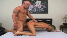 Adriana Amante spreads her legs and gets her pussy slammed hard