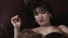 Sammy Knights Gets Into A Lesbian Fuck Fest With Hot Carmen Cho