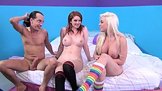 Mark your calendar for another hot group sex party with this sexy blonde and brunette