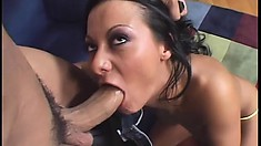 She fingers her pussy while he fucks her tight little asshole