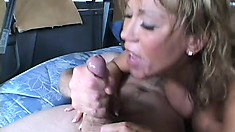 Lusty big-jugged slut Ava Devine is the queen of double penetration