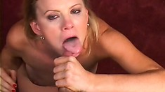 Lusty MILF wants to go down on this hunk's vicious jackhammer