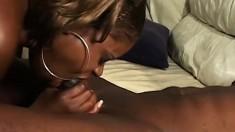 Caramel chokes on Byron Long's huge dick before it fills her gash