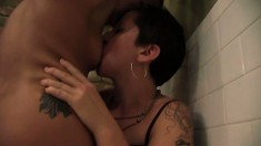 Andre Shakti and Kristen O. in some hot toying and strapon fucking