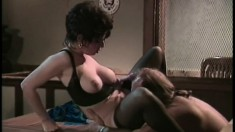 Sharon Mitchell works a huge pole until it's ready to explode