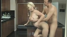Sweet blonde with pigtails sucks a big dick and enjoys a deep fucking
