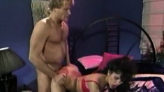 Lustful Alicia Rio gets her hungry peach pounded rough by Randy West