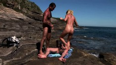 Chloe Delaure Is Outside In A Threesome Getting Pumped And A Dp
