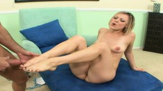 Jasmine Jolie gives in to temptation and gets deeply pounded