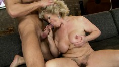 Kinky mature slut with big hooters is on the prowl for wild sex action