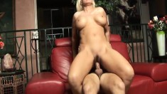 Luscious milf with big breasts Kayla Page is in need of a hard stick