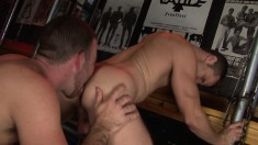 Two handsome young bucks eat each other's asses for your pleasure