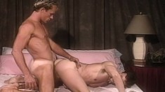 Paul Bain And Scott Bond Feeding Their Hunger For Anal Sex On The Bed