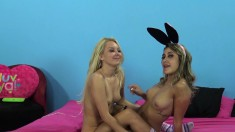 Marina Angel learns the secrets of a great blowjob from Aaliyah Love