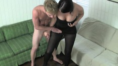 Ravishing Babe In Black Lingerie Alexis Grace Knows What A Cock Needs