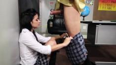 Naughty Brunette Teen Invites Her Teacher To Fulfill Her Anal Desires