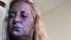 Mature amateur blowjob with a facial