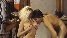 Vintage Pornstars Bunny Bleu Ron Jeremy Blowjob Threesome