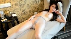 Amateur Asian babe solo masturbation