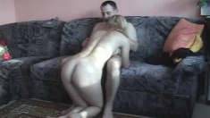 Amateur couple makes reality homemade home movie
