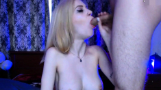 Amateur Webcam Blowjob And Cumshot