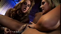 Kinky lesbian broads go wild on each other during a threesome