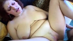 Horny bbw redhead loves getting her fat pussy drilled