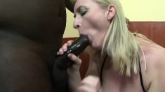Monik opens her asshole with a big toy before Joachim's cock arrives