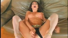Truly nasty MILF begs to taste her own butt on a dude's stiff cock