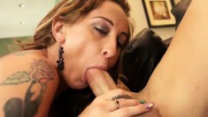 Big breasted cougar Serena gets her cunt fucked good by Derrick Pierce